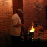 Flambe Cooking Station at your wedding reception